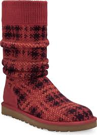 ugg womens knit boots ugg australia s plaid knit free shipping free returns