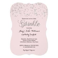 pink and silver baby shower silver and pink baby girl christening card zazzle
