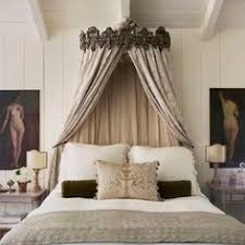 Faux Canopy Bed Drape Diy Bed Crown Using Hobby Lobby Shelf Tension Rod And Sheer