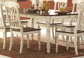 antique white dining table homelegance ohana dining table in antique white warm cherry 1393w 78