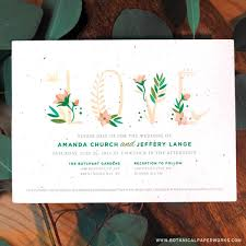 plantable wedding invitations 3 custom eco friendly wedding invitation companies tara bridal