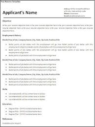 Fill In Resume Templates Empty Resume Format Haadyaooverbayresort Com