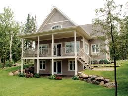 house plan lake cabin plans with walkout basement walkout luxamcc