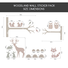 woodland animal wall stickers all about friendly woodland animals wall stickers snuggledust studios