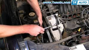 how to install replace serpentine belt idler pulley ford taurus