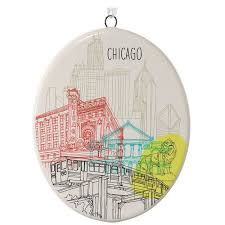 chicago ceramic ornament keepsake ornaments hallmark