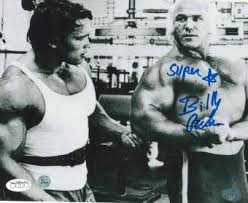 Bruno Sammartino Bench Press Billy Graham Signed Photo Autographed Wrestling Photos
