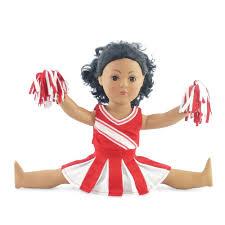 amazon com doll clothes fit american doll red cheerleader