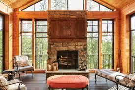 screen porch fireplace in wayzata murphy bros
