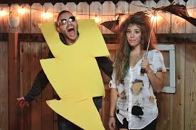 clever costumes for couples lightning costume idea the one with season s