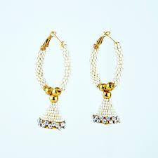 fancy jhumka earrings fashion earring jhumka fancy with moti and white earrings