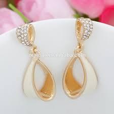 earing design 2014 hot fancy ring drop design gold earring models charm golden