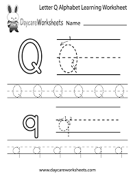 coloring pages free letter q alphabet learning worksheet for