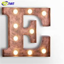 metal letters fumat cafe logo wall light letters e wall ls metal letters light
