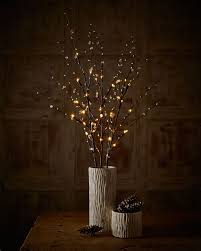 lighted branches add autumn glow to your home with lighted branches