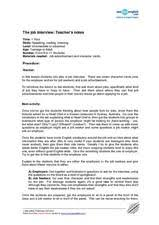 role playing job interviews lesson plans u0026 worksheets