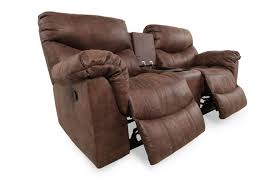 Rocking Reclining Loveseat With Console Ashley Alezna Gunsmoke Double Reclining Loveseat With Console