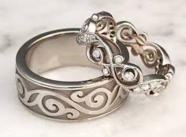 unique wedding ring sets 42 magnifincent unique wedding ring sets for him and in