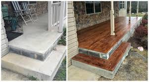atlanta porch concrete resurfacing before u0026 after gallery