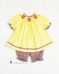 silly goose thanksgiving smocked pads boutique