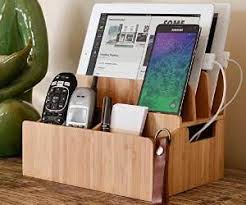 Electronic Charging Station Desk Organizer Bamboo Charging Station Desk Organizer Home Ideas Pinterest