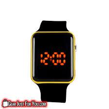 bracelet digital watches images Unisex silicone led touch digital sports square bracelet wrist png