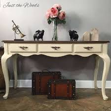 Sofa Tables With Drawers by Toasted Almond Sofa Table With Stenciled Drawers By Just The Woods