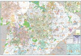 Map Of Raleigh Nc Wall Map Of Wake County And Raleigh