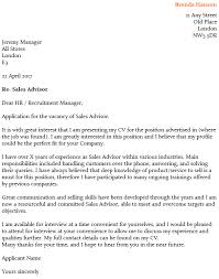 cover letter sles uk sales advisor cover letter exle icover org uk