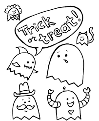 halloween coloring pages trick treat hallowen coloring pages