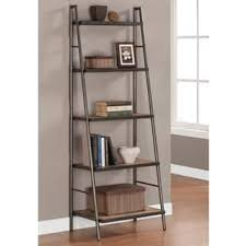 Natural Oak Leaning Shelves With Rustic Bookshelves U0026 Bookcases For Less Overstock Com