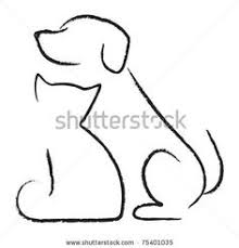 simple dog outline back tattoo pictures to pin on pinterest