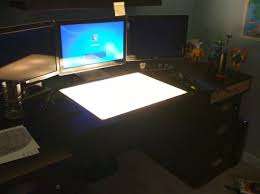 Lighted Drafting Table My Computer Drafting Light Table Desk Our Home Pinterest