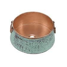 nobel vessel copper bathroom sink by sinkology