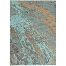 The Home Depot Area Rugs Contemporary Teal And Gray Area Rug 3 X 5 Rugs The Home Depot