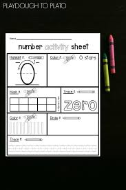 number activity sheets playdough to plato