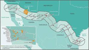 map usa mexico border section three current conditions in the u s mexico border