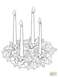 advent wreath coloring page fablesfromthefriends com