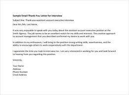 sample job interview thank you letter sample thank you letter after phone interview 12 free documents