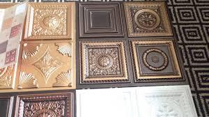 miniature samples faux tin ceiling tiles youtube