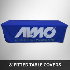 Custom Fitted Table Covers by 8 Foot Fitted Custom Printed Table Cover Brandedtablecovers