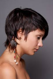 cropped hairstyles with wisps in the nape of the neck for women long pixie haircuts with shaggy nape google search beauty etc
