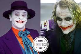 Heath Ledger Joker Halloween Costume Critics Heath Ledger U0027s Jack Nicholson U0027s Jokers