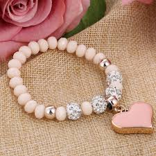 bracelet elastic heart images Crystal bracelet elastic heart sleek clothes jpg