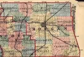 Illinois Map With Counties by Morgan County Illinois Maps And Gazetteers
