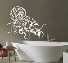 online get cheap jellyfish wall decal aliexpress com alibaba group removable jellyfish sea wall decals bathroom jelly fish sticker ocean animal vinyl home decoration art washroom