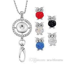 holder necklace images Wholesale round inlaid rhinestone name tag holder owl jpg