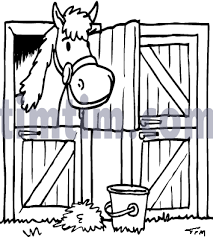 free drawing of horse stable bw from the category farm animals