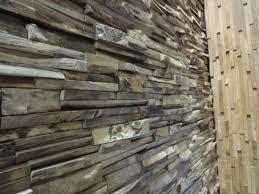 parement bois mural parement en teck recyclé vieilli 20cm x50cm