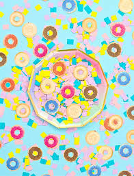 donut wrapping paper easy diy donut confetti brite and bubbly